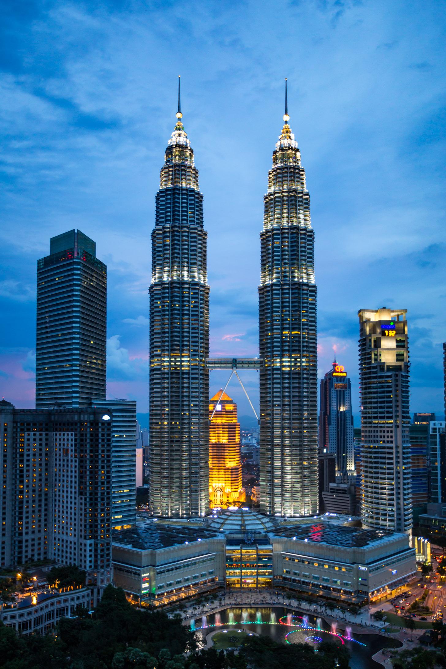 De Petronas Twin Towers zijn het symbool van Kuala Lumpur