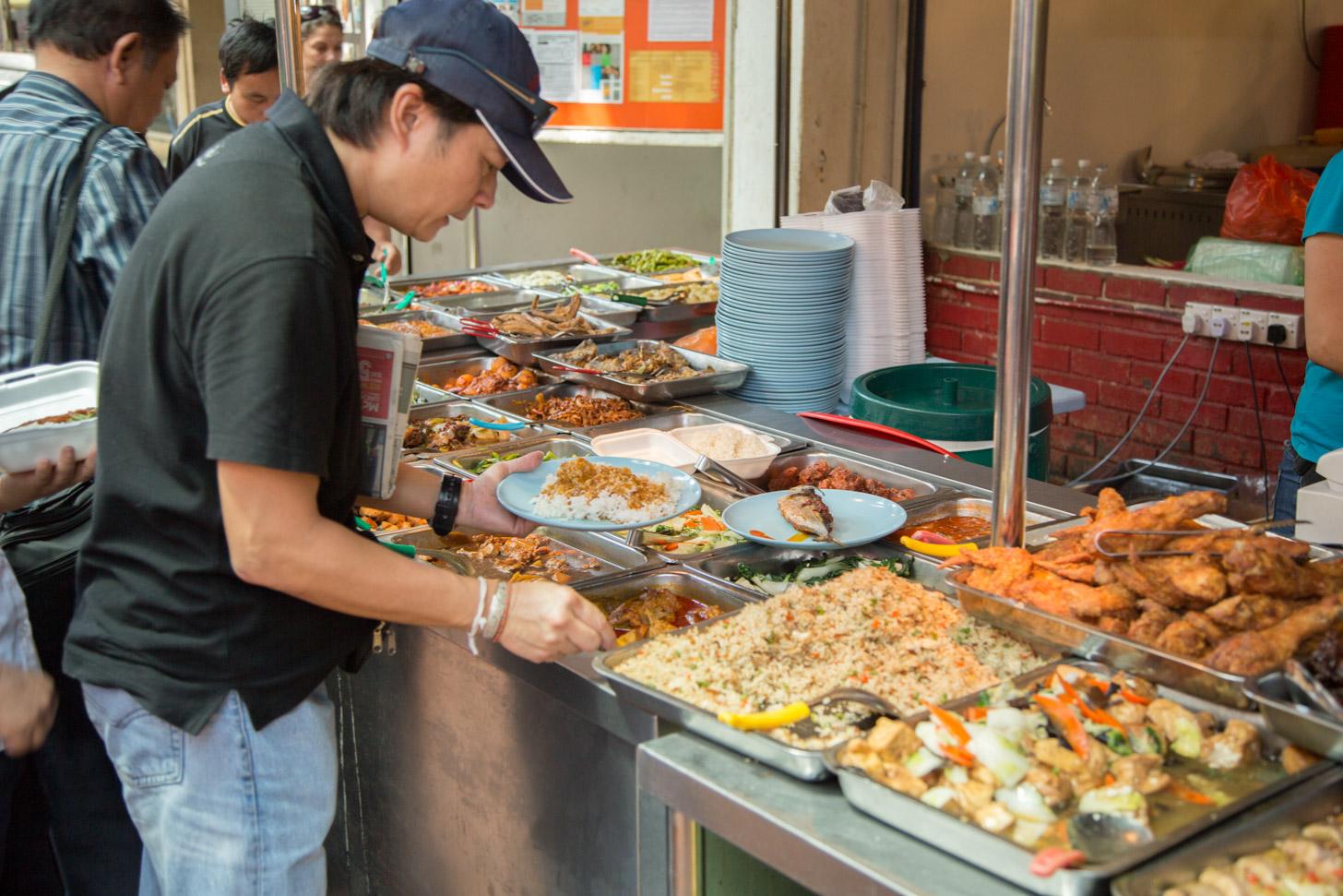Keuze uit verschillende Aziatische gerechten