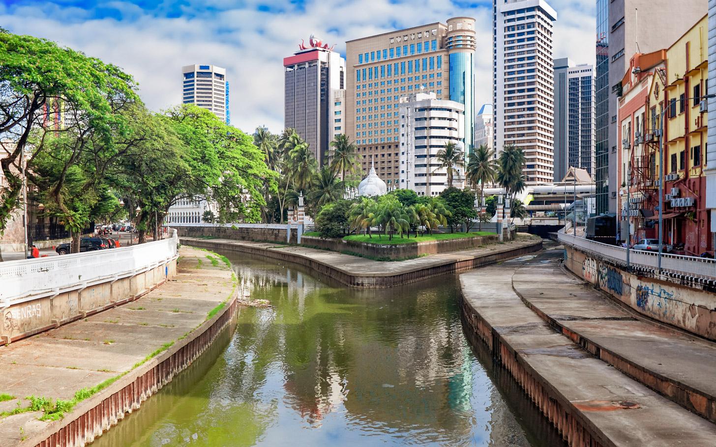 De plek waar de rivieren Klang en Gombak samenkomen