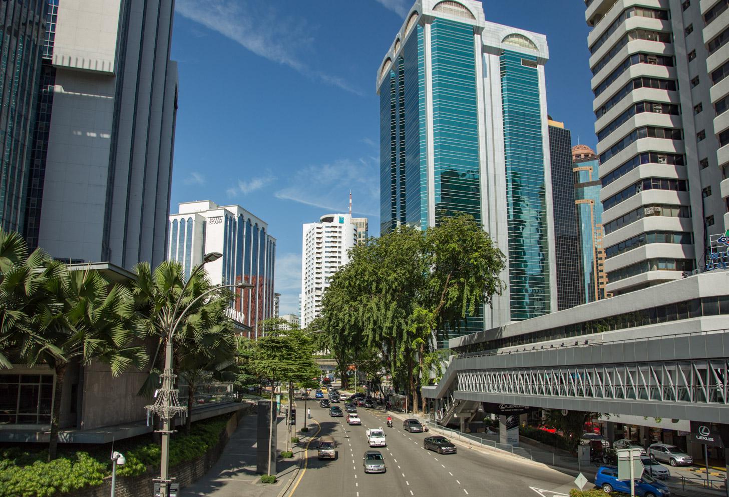 Straat in het centrum van Kuala Lumpur