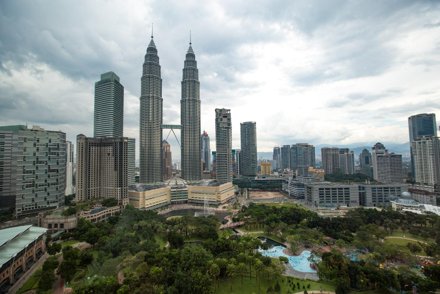 Wolken boven Kuala Lumpur